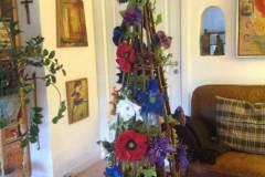 Opsats med filtede blomster brocher til salg